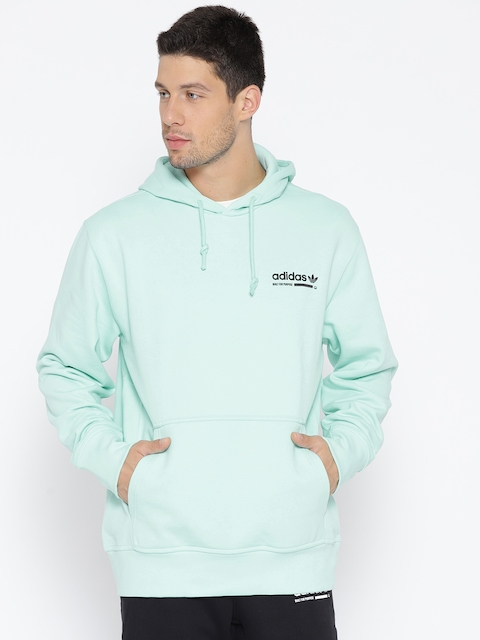 Adidas Originals Men Sea Green Solid Kaval OTH Sweatshirt with Printed Back