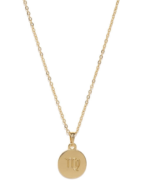 Ayesha Gold-Toned Virgo Pendant with Chain