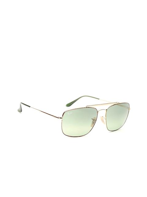 Ray-Ban Men Rectangle Sunglasses 0RB356091034M61