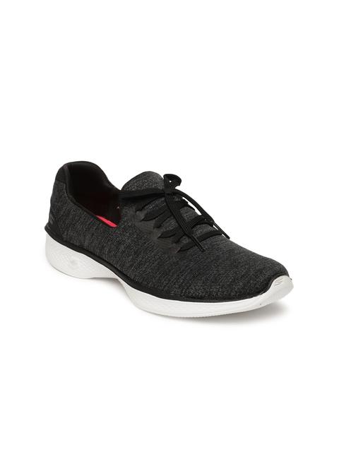 Skechers Women Black GO WALK 4 Walking Shoes
