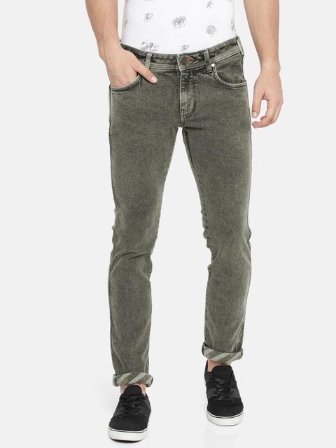 Wrangler Men Black Skanders Slim Fit Low-Rise Jeans
