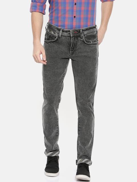 Wrangler Men Black Vegas Skinny Fit Mid-Rise Clean Look Stretchable Jeans