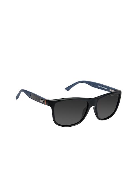 David Blake Unisex Grey & Black Wayfarer Sunglasses