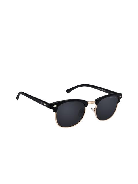 David Blake Unisex Black Wayfarer Sunglasses