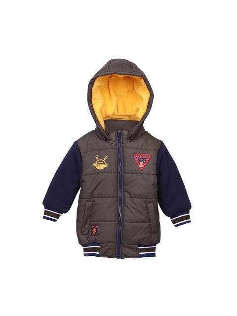 Beebay Boys Olive Green & Navy Blue Colourblocked Padded Jacket