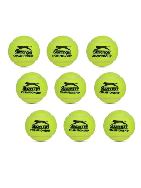 Slazenger Unisex Pack of 3 Fluorescent Green Championship Tennis Balls