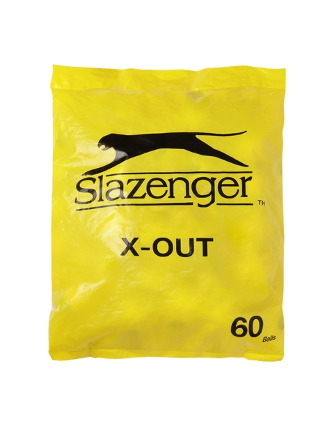 Slazenger Pack of 60 X-Out Practice Tennis Balls