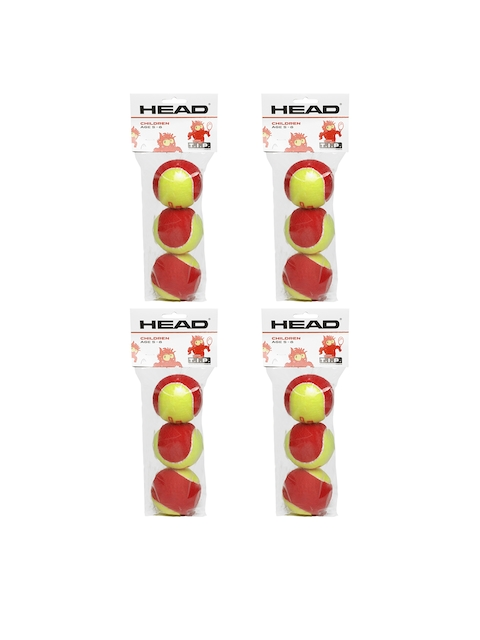 Head Kids TIP- I Pack of 12 Red and Fluorescent Green Tennis Balls
