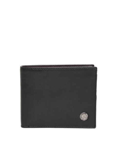 Woodland ProPlanet Men Black Leather Solid Two Fold Wallet