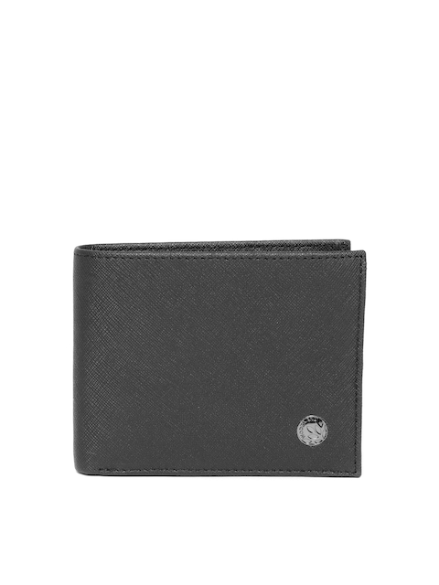 Woodland ProPlanet Men Black Solid Leather Two Fold Wallet