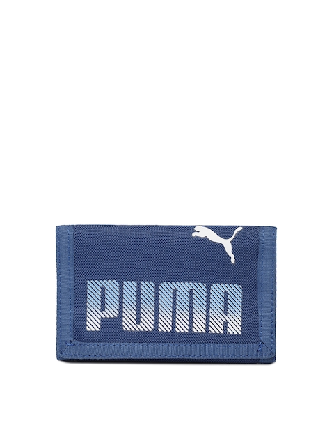 Puma Men Blue Plus Three Fold Wallet