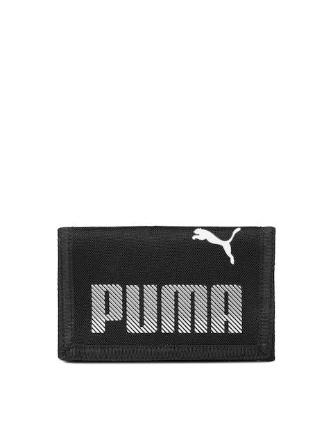 Puma Men Black Plus Three Fold Wallet