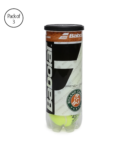 Babolat Unisex Pack of 3 Yellow French Open Tennis Balls