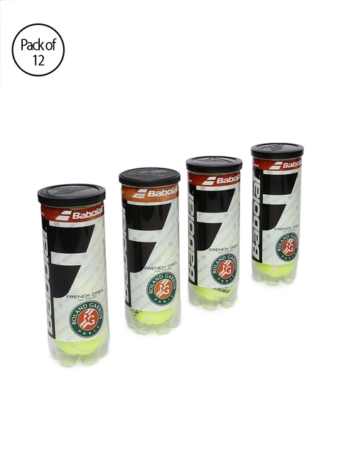 Babolat Unisex Pack of 12 Yellow French Open Tennis Balls