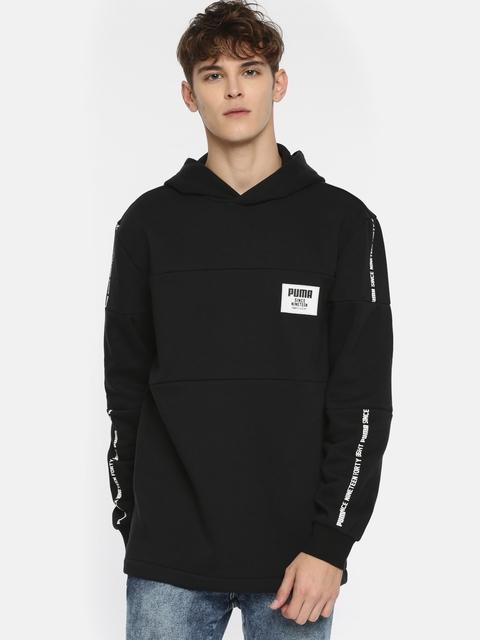Puma Men Black Solid Rebel Block Hoody FL Hooded Sweatshirt