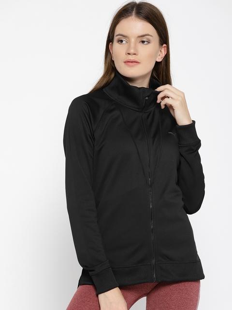 Puma Women Black Solid Explosive Warm Up Jacket