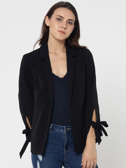 ONLY Black Single-Breasted Casual Blazer