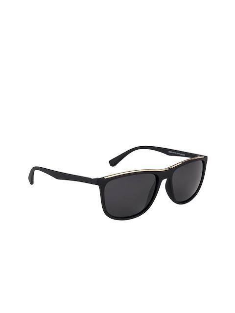 Voyage Unisex Black Polarised Rectangle Sunglasses 3586OMG2421