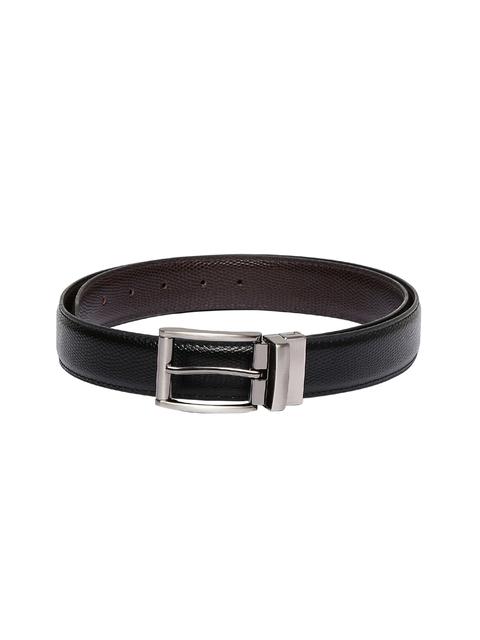 CHISEL Men Black & Brown Reversible Textured Belt