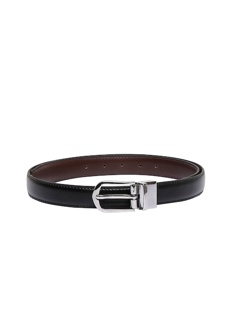CHISEL Women Black & Brown Reversible Textured Belt