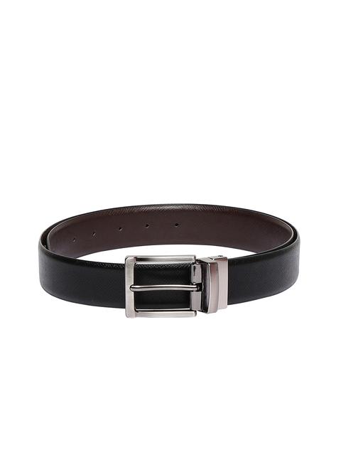 CHISEL Men Black & Brown Reversible Leather Solid Belt
