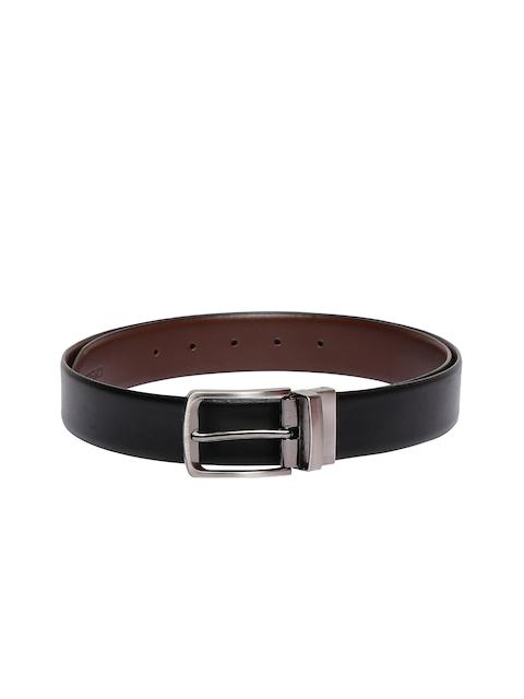 CHISEL Men Black & Brown Leather Reversible Belt