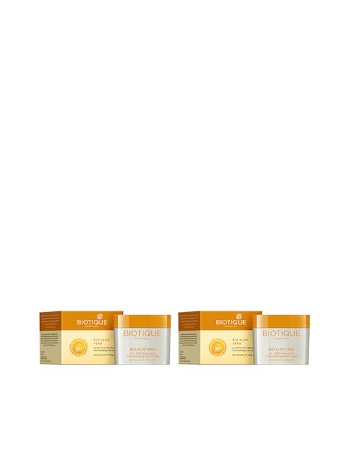 Biotique Unisex Pack of 2 Aloe Vera 30+ SPF UVA/UVB Sunscreen Ultra Soothing Face Cream