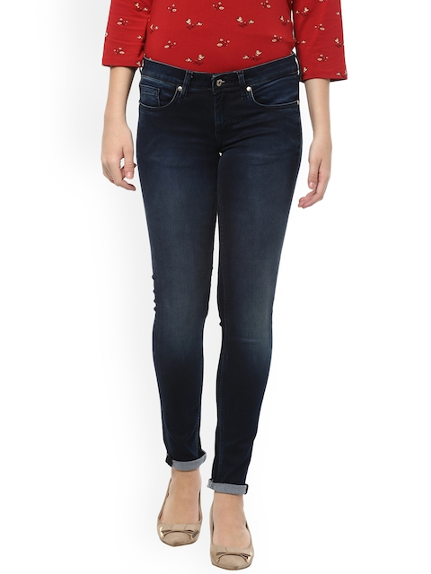 Allen Solly Woman Women Blue Regular Fit Mid-Rise Clean Look Stretchable Jeans