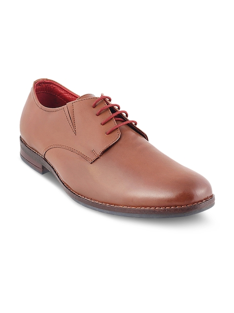 Metro Men Tan Brown Leather Derbys