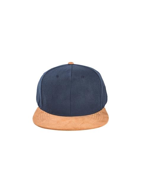 Knotyy Unisex Blue & Orange Colourblocked Snapback Cap