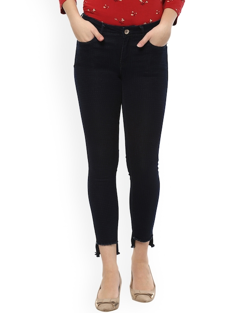 Allen Solly Woman Navy Blue Mid-Rise Clean Look Stretchable Jeans