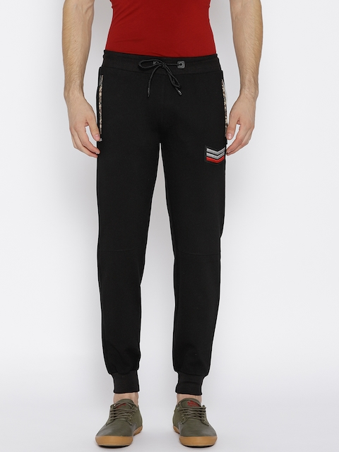 Monte Carlo Men Black Solid Joggers