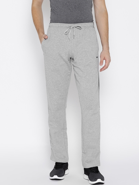 Monte Carlo Men Grey Melange Solid Track Pants