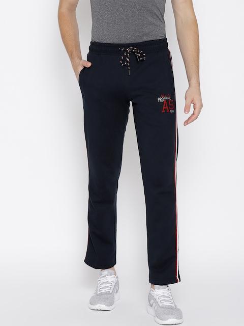 Monte Carlo Men Navy Blue Solid Track Pants
