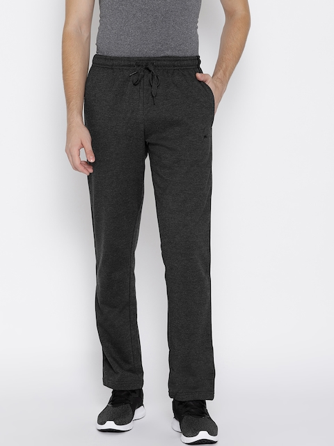 Monte Carlo Men Charcoal Grey Solid Track Pants