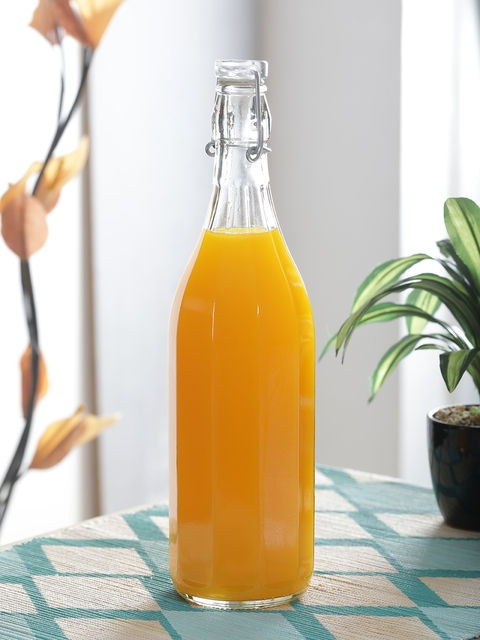 Borgonovo Transparent Glass Bottle, 1 L