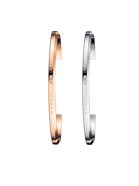 Daniel Wellington His & Her Silver-Toned & Rose Gold Stainless Steel Bracelet Set