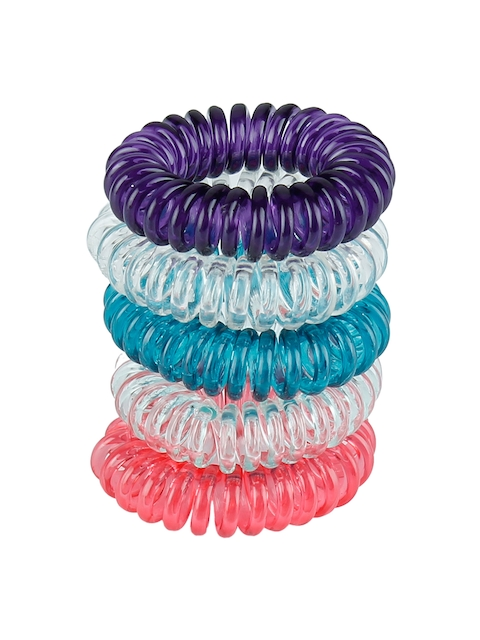 Franck Provost Multicoloured Set Of 5 Spiral Claw Clip