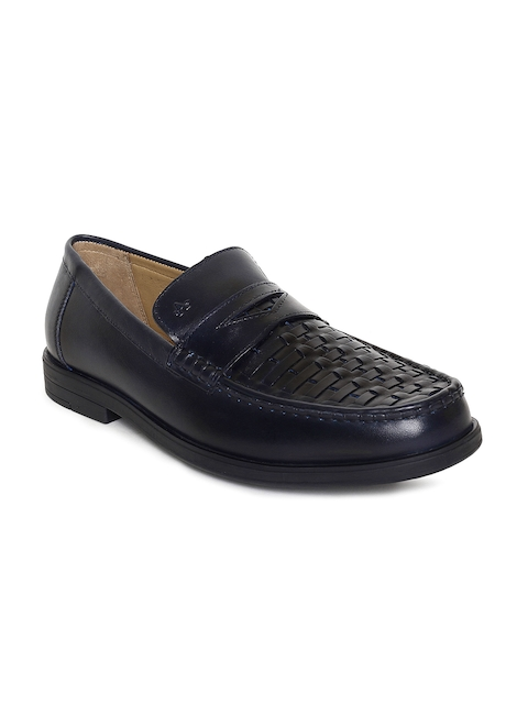 Arrow Men Black Textured Leather Willy Formal Loafers