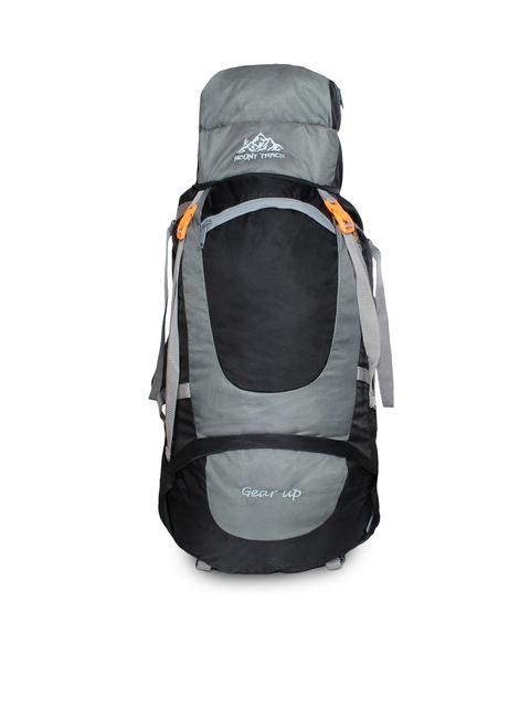 MOUNT TRACK Gear Up Grey & Black Colourblocked Hiking Rucksack