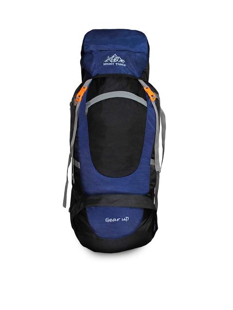 MOUNT TRACK Gear Up Navy Blue & Black Colourblocked Hiking Rucksack