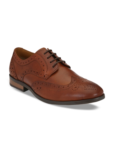 Alberto Torresi Men Tan Leather Formal Brogues
