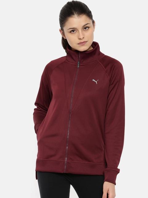 Puma Women Maroon Explosive Warm up Sweatshirt