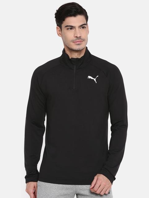 Puma Men Black ESS Active Solid Sweatshirt