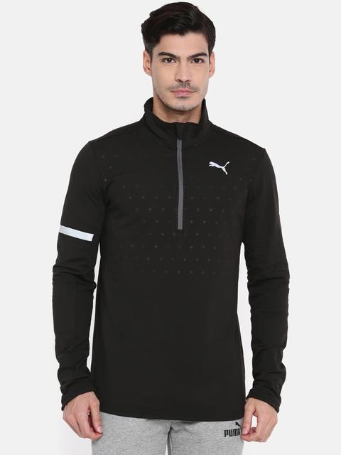 Puma Men Black Solid PACE Midlayer Running Sweatshirt