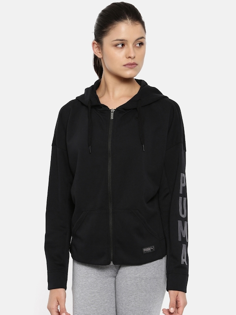 Puma Women Black FUSION FZ Sweatshirt