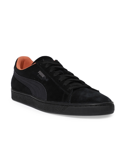 30%off Puma Men Black Suede Classic Tonal Nu Skool Casual Shoes eb576ddbc
