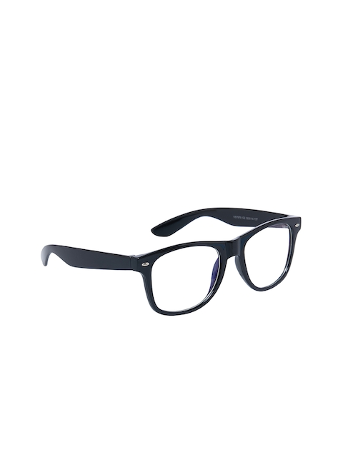 VAST Unisex Black Solid Full Rim Rectangle Frames AntiGlare_WAYFARER_BLACK_CLEAR_ARC