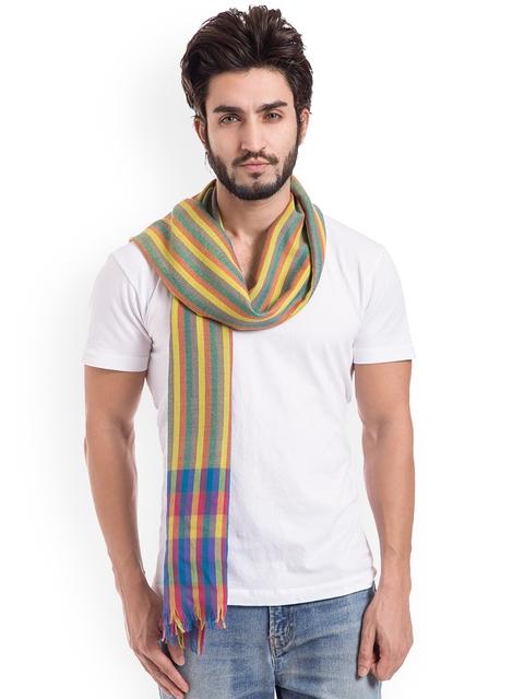 SHINGORA Mens Multicoloured Striped Muffler