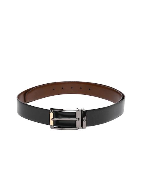 Louis Philippe Men Black & Brown Solid Reversible Belt